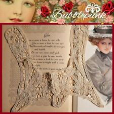 Antique Hand-Crafted Floral Tape Lace Bib Collar Child Baby Doll ~ Estate
