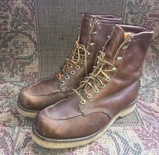 Vintage Chippewa Moc Toe Hunting Boots USA Made Size 8EE