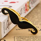 Vintage Handlebar Mustache beard Moustache Two Finger Adjustable Double Ring QKC