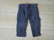 Pantalon velours gris foncé 12 mois Tape à l'oeil