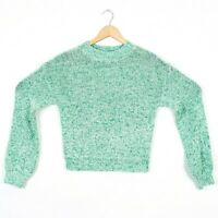Abound Womens Green Long Sleeve Knit Crew Neck Pullover Dolman Sweater
