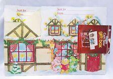 Rare Sealed 1981 Vintage Care Bears Hallmark Christmas Paper Foldable Gift Box