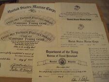 "Vtg 1971 Vietnam War Lot of Certificates~""Us Marines Corps/Navy""~"