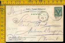 Regno navigazione vie di mare piroscafo postale Italiano da La Palma Spagna