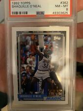 1992-93 Topps Gold #362 Shaquille O'Neal Magic RC Rookie HOF PSA 8 NM-MT