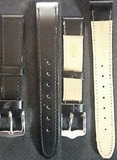 Black Leather band 16mm - 14mm for watch NEW ! L@@K !