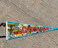 "Vintage Imprint Art South Carolina Pennant Landmarks Tobacco Cotton 24"""