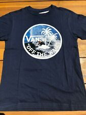 Vans New Dual Palm Logo Fill Short Sleeve T-Shirt Boy's Youth 5/M Dress Blues