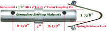 Three Scaffold Coupling Pin 1 38od X 9l With 1 Collar Amp 3 Spring Retainers
