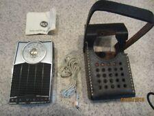 Vintage RCA Victor Transistor Radio Model 3 RH21G w/ Case and Ear Plug