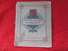 Old book Military uniform British Empire overseas