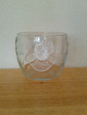 Christmas snowman glass bowl or votive candle holder, 3""