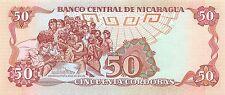 Nicaragua 50 Córdobas  1985 P 162  Series FA  Uncirculated Banknote