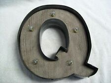 Studio Decor LED Marquee Lighted Letter Q Symbol Wall or Table NEW!