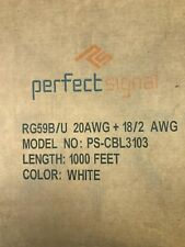 Perfect Signal Rg59 Siamese Coaxial Cable - White