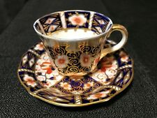 2451 Royal Crown Derby 1902 Date Code Demitasse Cup & Saucer Traditional Imari
