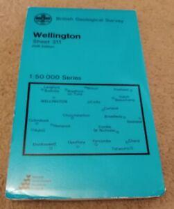 Ordnance Survey Geological Map  WELLINGTON (Somerset) 1976 Sheet 311