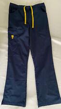 Women's Xs Tall Wonderwink Spread Good Cheer Stretch Cargo Scrub Pants Navy Blue