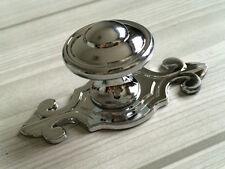 Dresser Knobs Drawer Pulls Cabinet Door Handles Back Plate Plates Silver Chrome