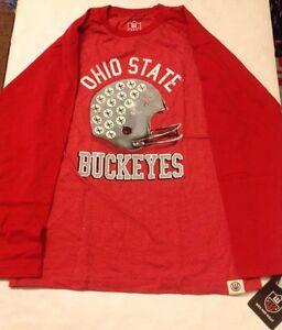 OHIO STATE Buckeyes YOUTH Football Melange Raglan Shirt Size: Youth Medium