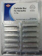 Superdent Carbide Surgical Bur Fg 702 Pack Of 10 Dental Oral Surgery England