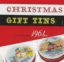 1964 Huntley & Palmers Christmas tins catalogue Reading biscuit tin Noddy Blyton