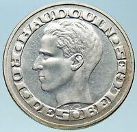 1958 BELGIUM BRUSSELS WORLD's FAIR 58 Baudouin Silver 50 Francs Coin i82811