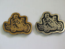 Motorcycle Pin Badge (Choice of 1-Silvertone or Goldtone)