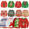 Cute UGLY XMAS CHRISTMAS SWEATER Vacation Santa Elf Funny Women Men Sweatshirt