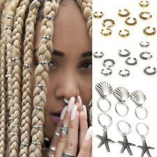 6Pcs 10Pcs Set Hairpin Short Braid Dreadlocks Shell Circle Hoop Hair  Accessories 3f08d7adee27