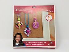 American Girl Crafts Create 3 Circle Necklaces Kit 26 Pieces New