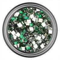 Green Square Rhinestone Gems Flat Back Face Art Nail Art Jewels Decoration 2mm