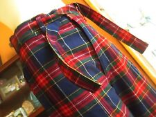 NEW sz 16 30x35 True Vtg 70s Womens RED/BLUE PLAID BELLBOTTOM pants Jeans H.I.S.