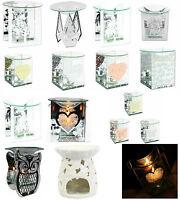 Glass Fragrance Oil Burner & Tealight Holder Candle Wax Melt Tart Warmer Gift