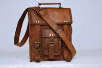 Bag New Leather Vintage Messenger Shoulder Men's Satchel Laptop School Briefcase