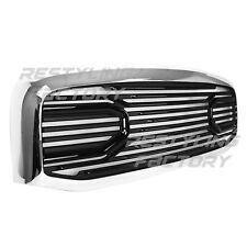 Front Hood Black Big Horn Replacement Grille+Chrome Shell for 06-09 Dodge RAM