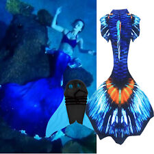 Kids Girls Boys Women Men Mermaid Tail Luxurious Swimmable Tail with Monofin