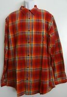 The Foundry Men's Plaid Button Front Long Sleeve Shirt Size 2XLT