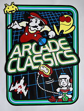 Multicade Arcade Classics Side Art Set Screen Printed with Fluorescent Inks!