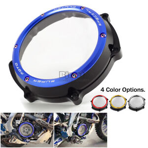 CNC Racing Clear Clutch Cover For Yamaha YZ250F WR250F 2001 2002 2003-2013 Blue