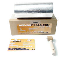 "10sqft (12""x24"" Cut) 110mil Aluminum Automotive Sound Deadener w/ Dynamat Sample"
