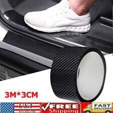 Accessories Carbon Fiber Vinyl Car Door Sill Scuff Cover Plate Sticker Protector