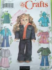 """Simplicity Sewing Pattern 7083 Crafts18"""" Fashion Doll Clothes Dress Pants OS"""