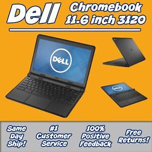 "Dell Chromebook 3120 11.6"" Celeron N2840 2.16GHz 4GB RAM 16GB SSD Laptop - Black"