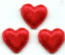 "2/"" x 2 1//4/"" Red Valentine/'s Heart Shiny Nailhead Patch"