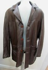 VTG 1960s *SPORT TOGS Luxe Brown SWAG-MASTER DEERSKIN LEATHER JACKET Sz-40 $59.