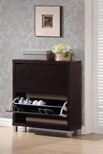 Baxton Studio Simms Dark Brown Modern Shoe Cabinet-FP-2OUS-Cappucino NEW