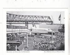 """+PC-Postcard-""""Monorail & Space Shuttle Enterprise"""" 1984 NO World's Fair (A18-2)"""