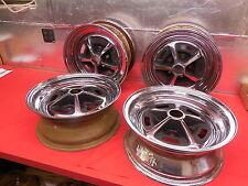 "4 USED Magnum 500 Chromed Steel 15""x6""X4 3/4 BC Wheels"