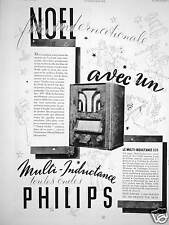 PUBLICITÉ PHILIPS MULTI INDUCTANCE TOUTES LES ONDES NOËL FÊTE INTERNATIONALE